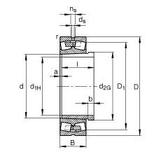 241/560-B-K30-MB + AH241/560-H  Roller Bearings