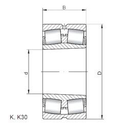 24080 K30W33 ISO Roller Bearings