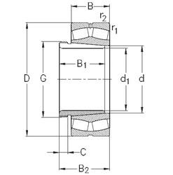 24128-CE-K30-W33+AH24128 NKE Roller Bearings