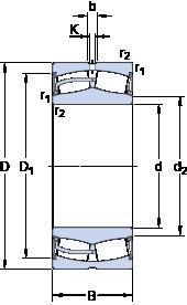 24128-2CS5/VT143 SKF Self-aligning Bearing