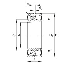 24072-E1A-K30-MB1  Self-aligning Bearing