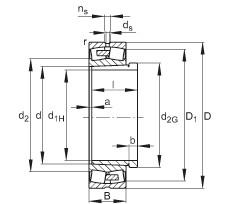 24072-E1A-K30-MB1 + AH24072-H  Roller Bearings
