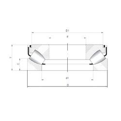 29340 M ISO Thrust Roller Bearings