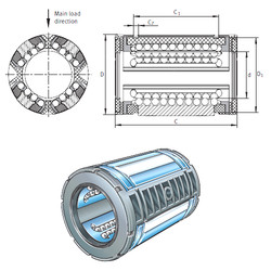 KS25-PP INA Plastic Linear Bearing