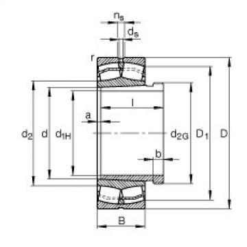 24176-B-K30 + AH24176-H  Spherical Roller Bearings