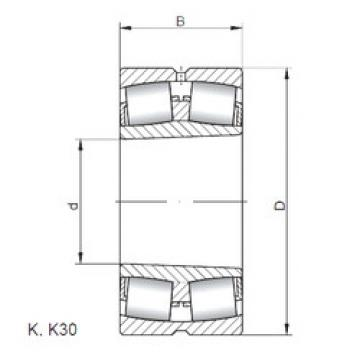 24084 K30W33 ISO Spherical Roller Bearings