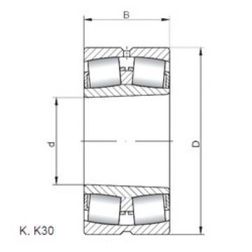 24128 K30W33 ISO Spherical Roller Bearings