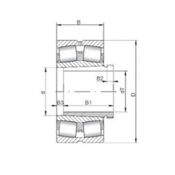 24168 K30CW33+AH24168 ISO Aligning Roller Bearing