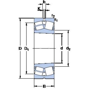 24168 ECCK30J/W33 SKF Roller Bearings