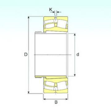 241/900 EK30W33+AOH241/900 ISB Spherical Roller Bearings