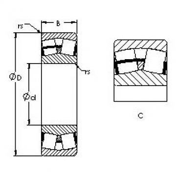 24134CA AST Aligning Roller Bearing
