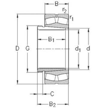 24176-K30-MB-W33+AH24176 NKE Spherical Roller Bearings