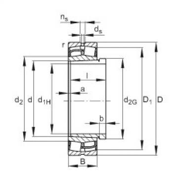 24172-E1-K30 + AH24172-H  Sealed Bearing