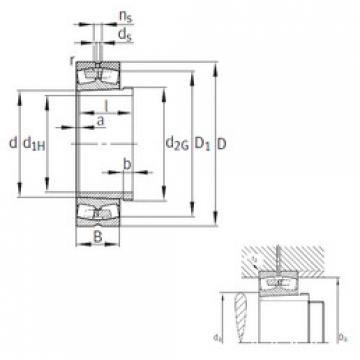 24192-B-K30-MB+AH24192  Aligning Roller Bearing