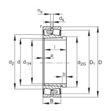 24196-E1A-K30-MB1 + AH24196-H  Self-aligning Bearing