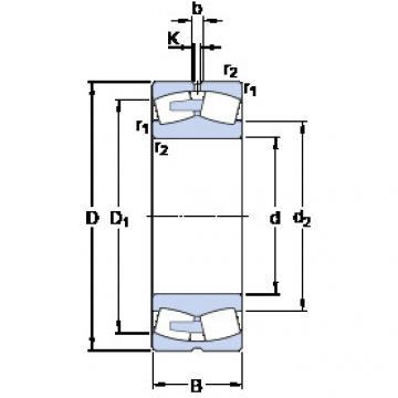 241/850 ECAF/W33 SKF Aligning Roller Bearing