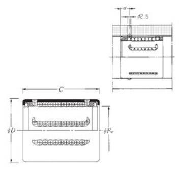 KH1630LL NTN Plastic Linear Bearing