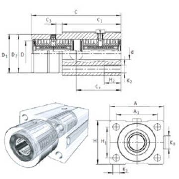 KTFS25-PP-AS INA Plastic Linear Bearing