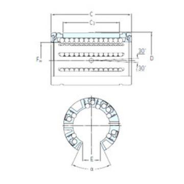 LBCF 25 A-2LS SKF Plastic Linear Bearing