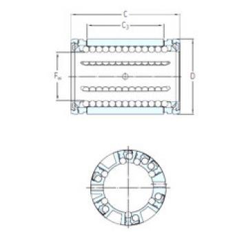 LBCR 60 A-2LS SKF Plastic Linear Bearing