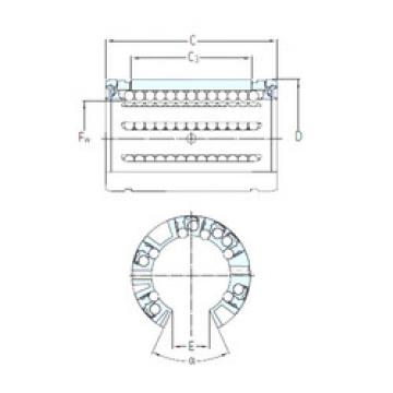 LBCT 60 A-2LS SKF Plastic Linear Bearing