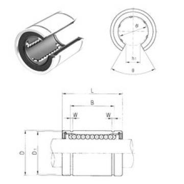 LM60UUOP Samick Plastic Linear Bearing