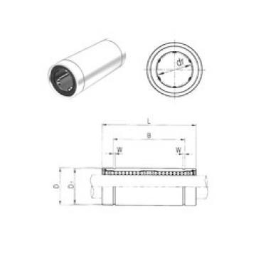LM40LUU Samick Plastic Linear Bearing