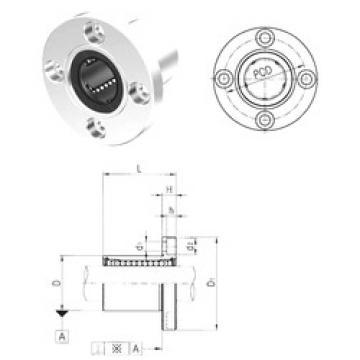 LMEF25 Samick Plastic Linear Bearing