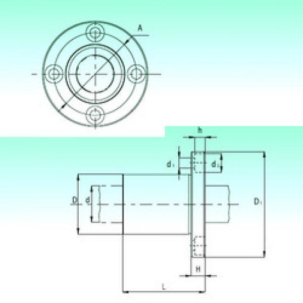 KBF08-PP  Plastic Linear Bearing #1 image