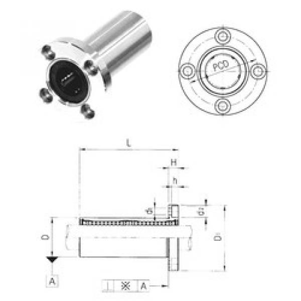 LMEF16LUU Samick Plastic Linear Bearing #1 image